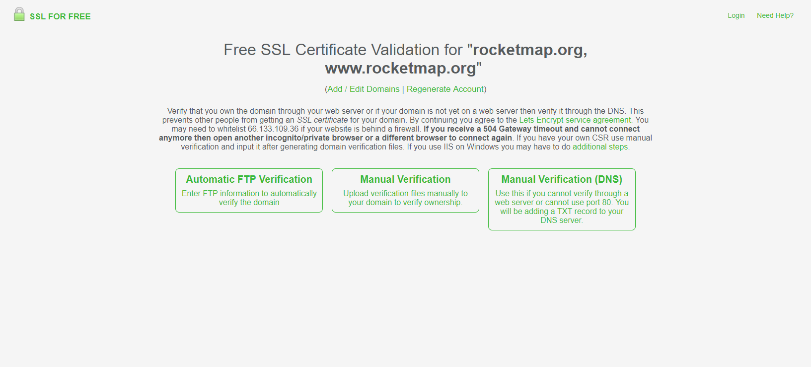 Lets Encrypt Without Certbot Rocketmap 310 Documentation