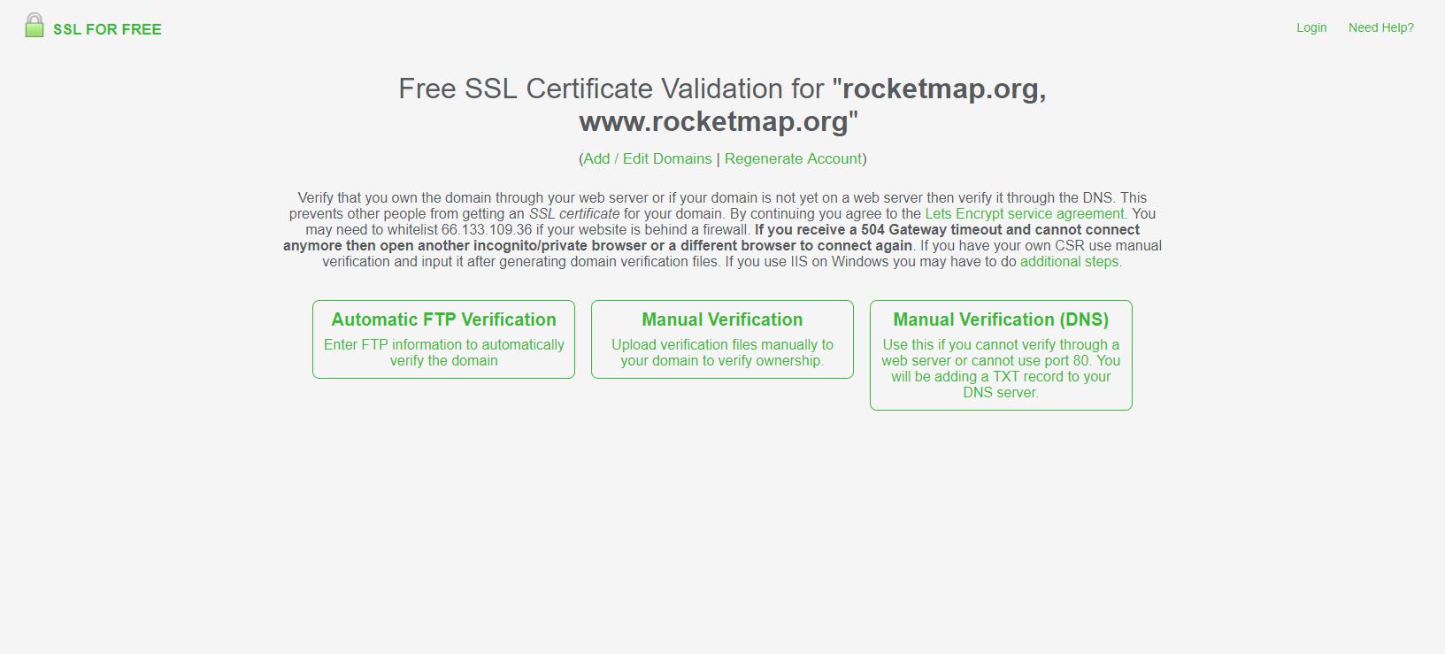 Lets Encrypt Without Certbot Rocketmap 310 Documentation