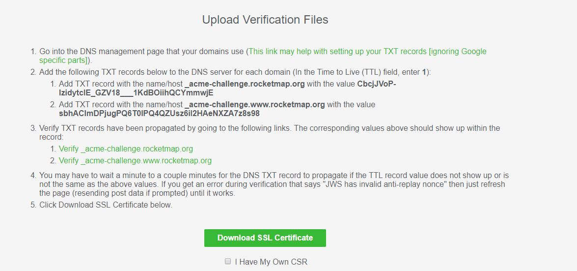 Let's Encrypt Without Certbot — RocketMap 3 1 0 documentation